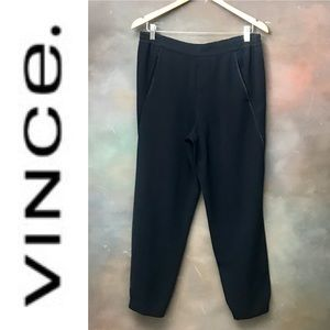 Vince Pull-on Cropped Pants Joggers Trousers Navy
